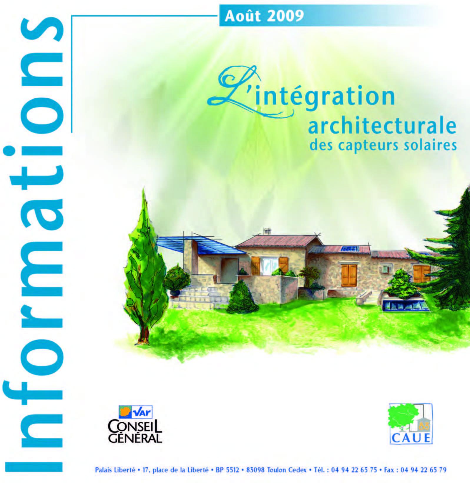 L'intégration architecturale des capteurs solaires