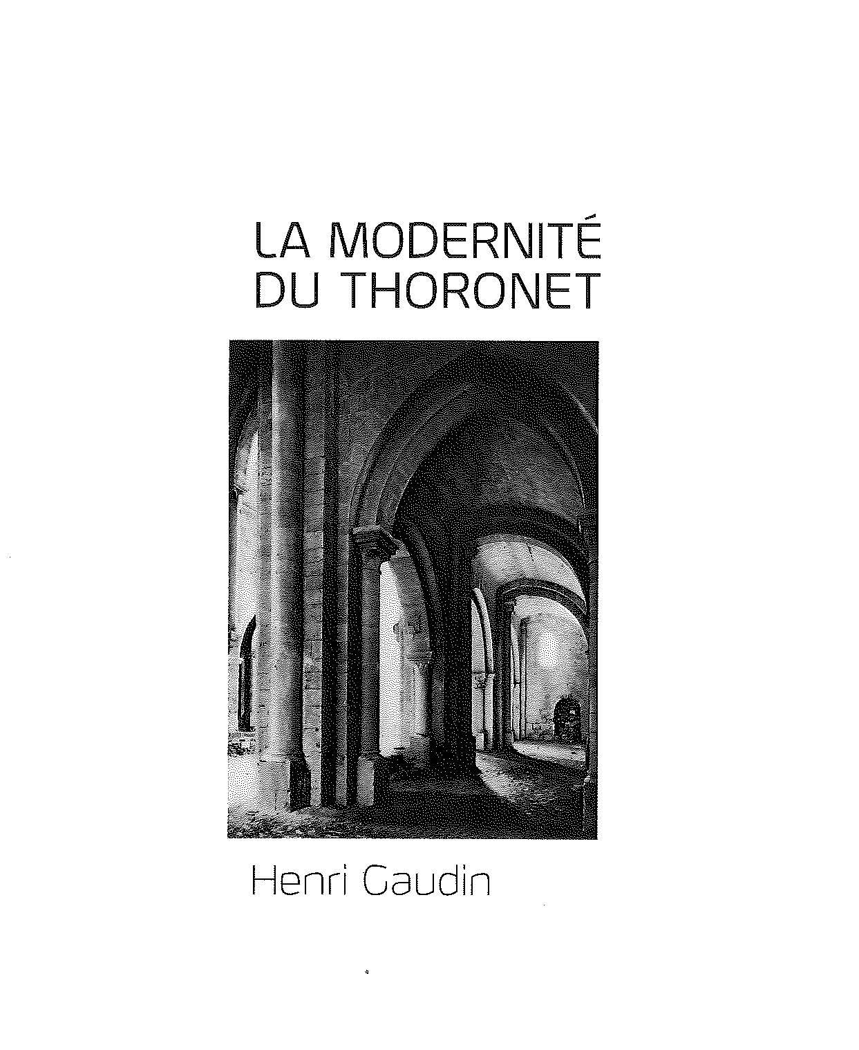La Modernité du Thoronet