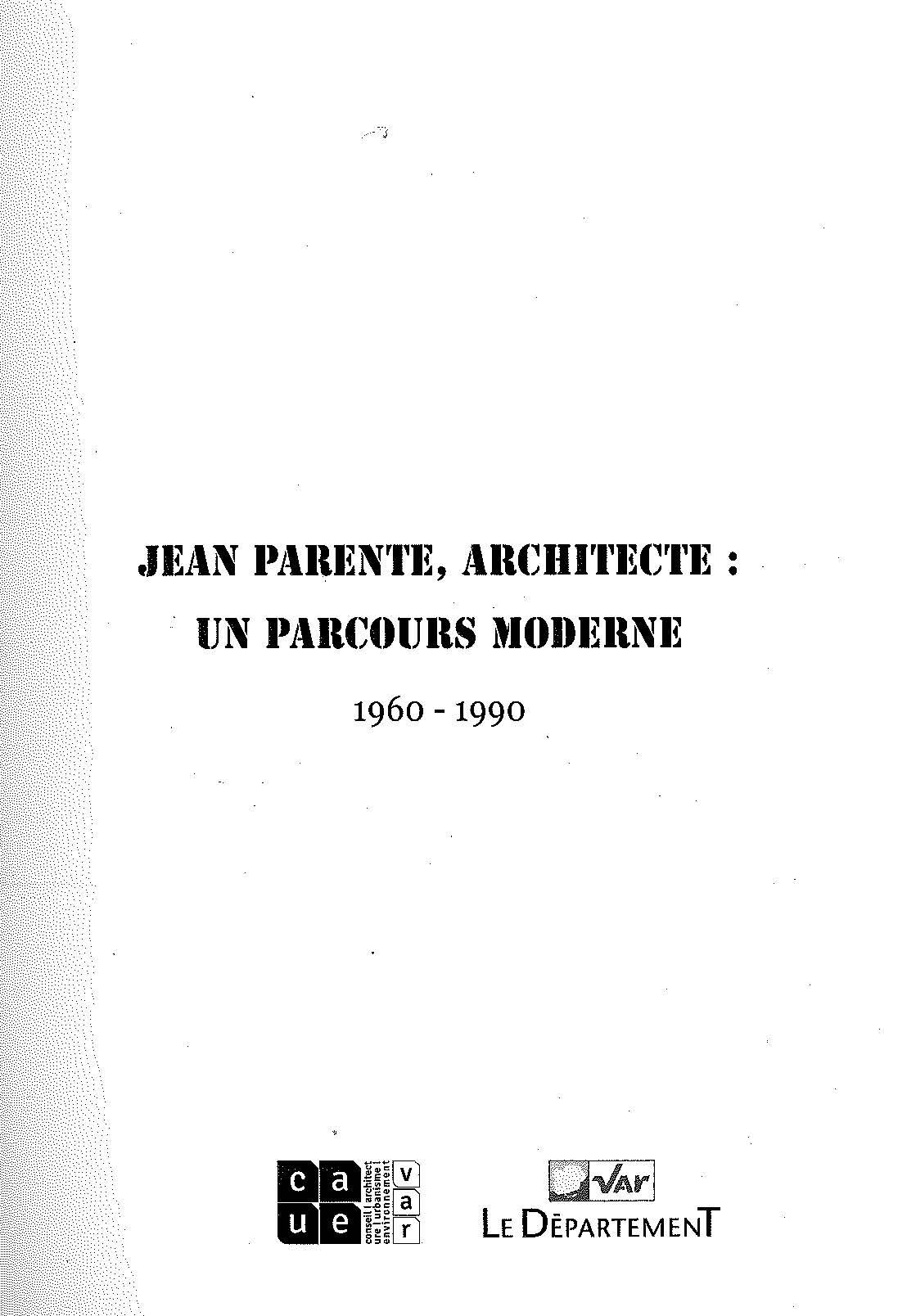 Jean PARENTE, architecte